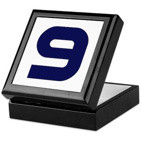 Number Nine 9 Keepsake Box