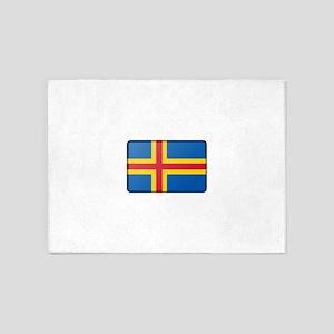 Aland Flag 5'x7'Area Rug