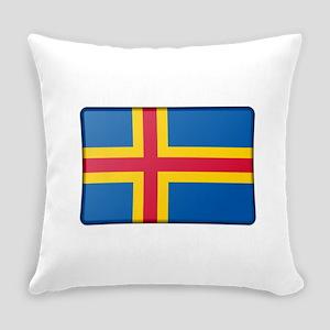 Aland Flag Everyday Pillow
