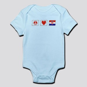 Peace, Love and Croatia Infant Bodysuit