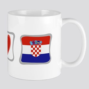 Peace, Love and Croatia Mug