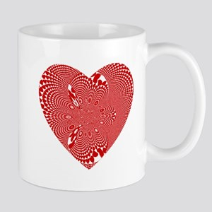 Wild Red And White Heart Mug