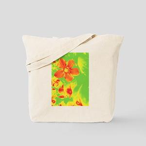 Orange Flower Art Tote Bag