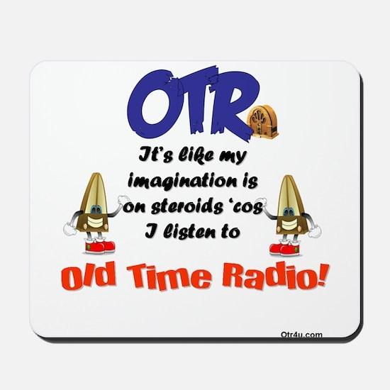 OTR Imagination Old Time Radio Mousepad