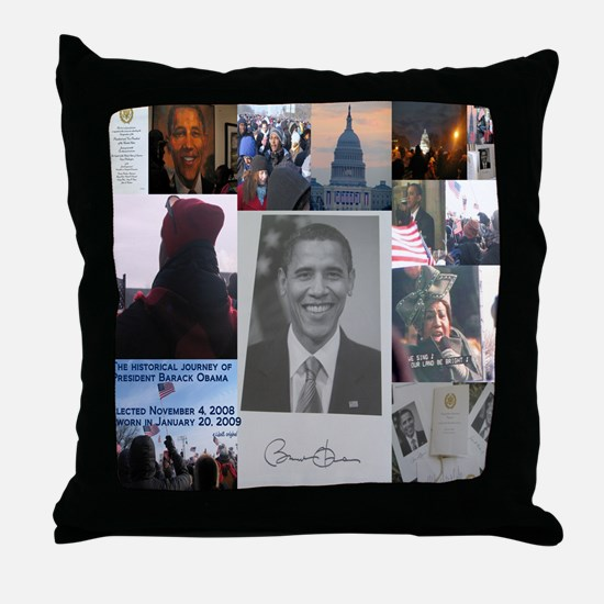 Cute Obama christmas Throw Pillow
