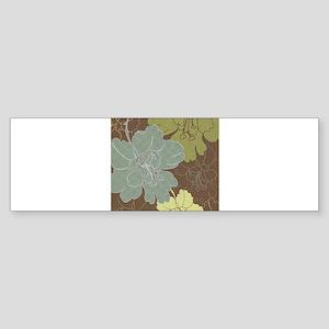 Blue Brown Hibiscus Sticker (Bumper)