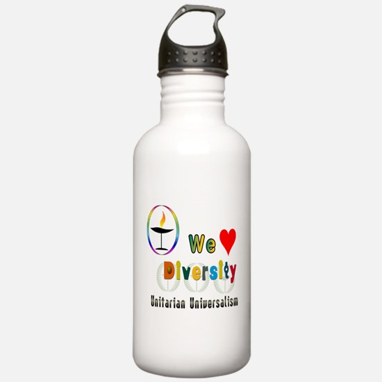 UU We Love Diversity.png Water Bottle