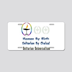 UU Unitarian By Choice Aluminum License Plate
