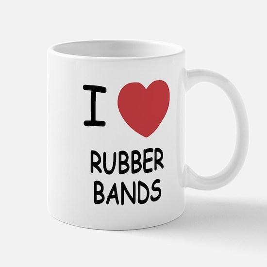 I heart rubber bands Mug