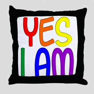 Yes I Am Throw Pillow