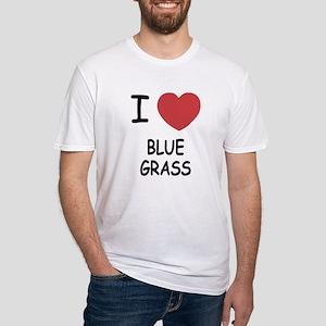 I heart bluegrass Fitted T-Shirt