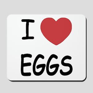 I heart eggs Mousepad