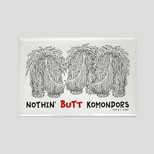 Nothin' Butt Komondors Rectangle Magnet