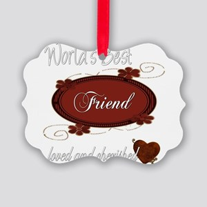 cherished friend copy Picture Ornament