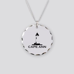 Cape Ann - Lighthouse Design. Necklace Circle Char