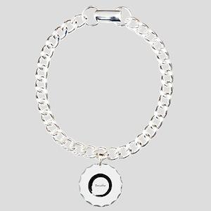 Enso with Breathe Charm Bracelet, One Charm