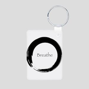Enso with Breathe Aluminum Photo Keychain