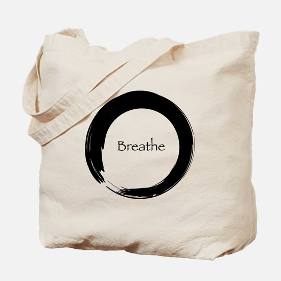 Enso with Breathe Tote Bag