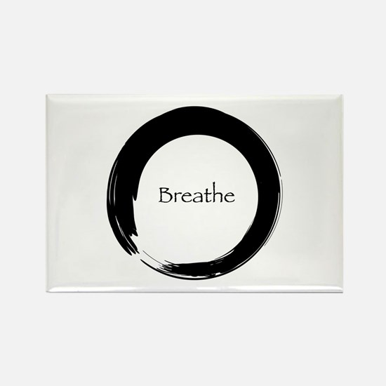 Enso with Breathe Rectangle Magnet