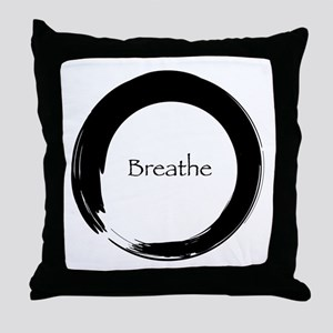 Enso with Breathe Throw Pillow