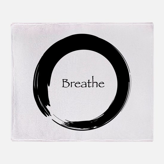 Enso with Breathe Throw Blanket