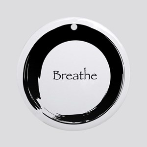 Enso with Breathe Ornament (Round)