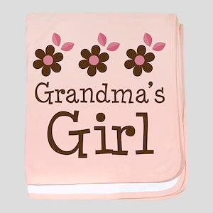 Grandma's Girl Daisies baby blanket