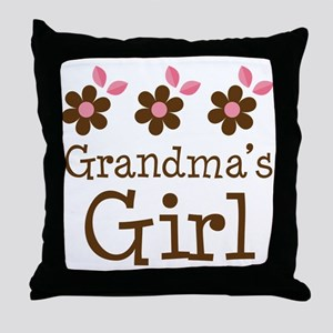 Grandma's Girl Daisies Throw Pillow