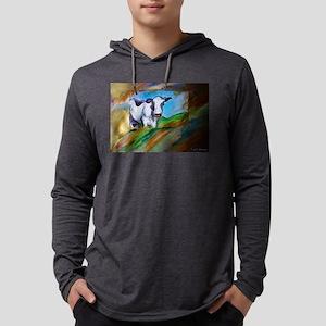 Cow! Bright, animal art! Mens Hooded Shirt