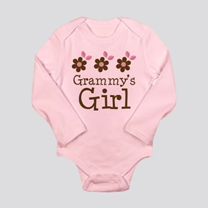 Grammy's Girl Daisies Long Sleeve Infant Bodysuit