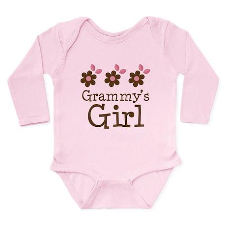 Grammy's Girl Daisies Long Sleeve Infant Bodysuit