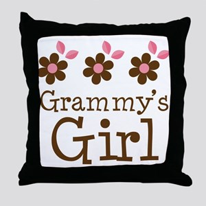 Grammy's Girl Daisies Throw Pillow