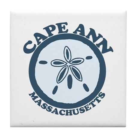 Cape Ann - Sand Dollar Design. Tile Coaster