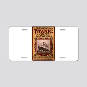 Sinking of the Titanic Aluminum License Plate
