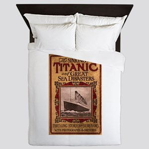 Sinking of the Titanic Queen Duvet