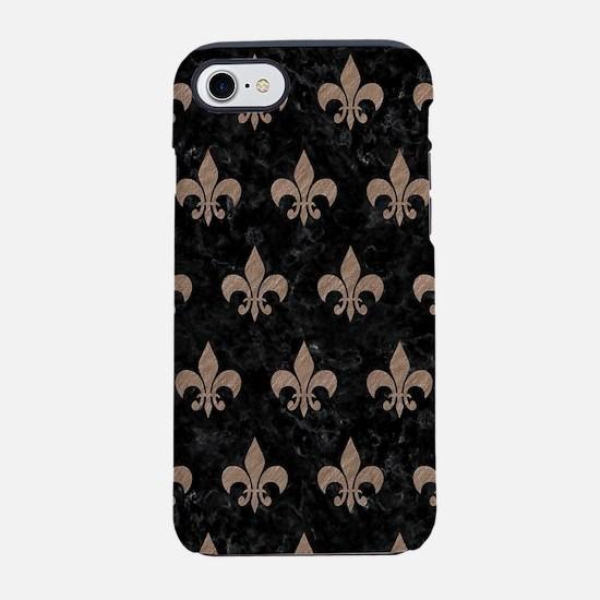 ROYAL1 BLACK MARBLE & BROWN CO iPhone 7 Tough Case