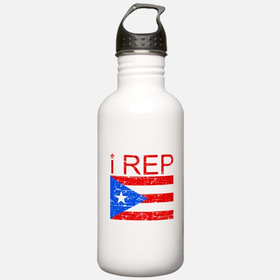 I Rep Puerto Rico Water Bottle