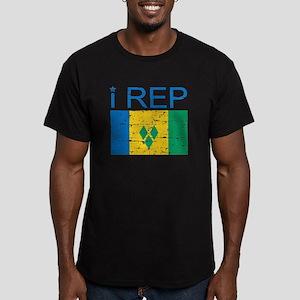 I Rep Saint Vincent Men's Fitted T-Shirt (dark)