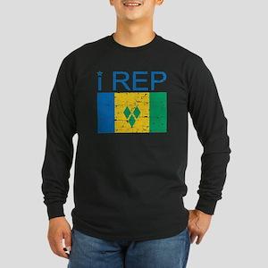I Rep Saint Vincent Long Sleeve Dark T-Shirt
