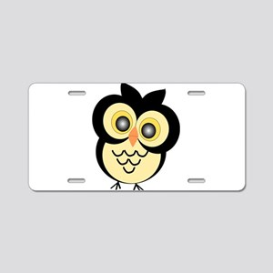 Black And Gold Owl Aluminum License Plate
