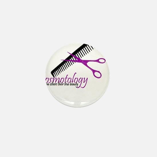 Cute Cosmetologist Mini Button