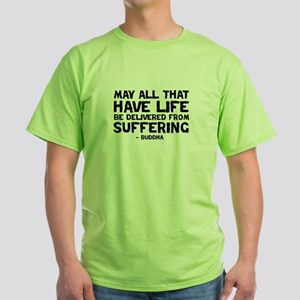quote_buddha_suffering_white T-Shirt