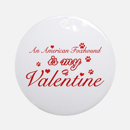 An American Foxhound is my valentines Ornament (Ro