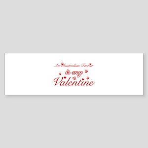 An Australian Terrier is my valentines Sticker (Bu