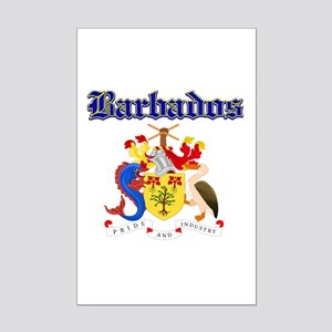 Bajan Coat of arms designs Mini Poster Print