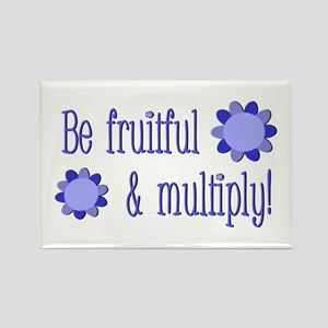 Be fruitful and multiply! blue design Rectangle Ma