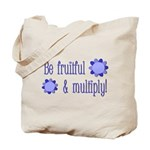 Be fruitful and multiply! blue design Tote Bag