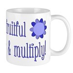 Be fruitful and multiply! blue design Mug