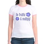 Be fruitful and multiply! blue design Jr. Ringer T