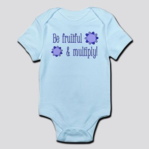 Be fruitful and multiply! blue design Infant Bodys